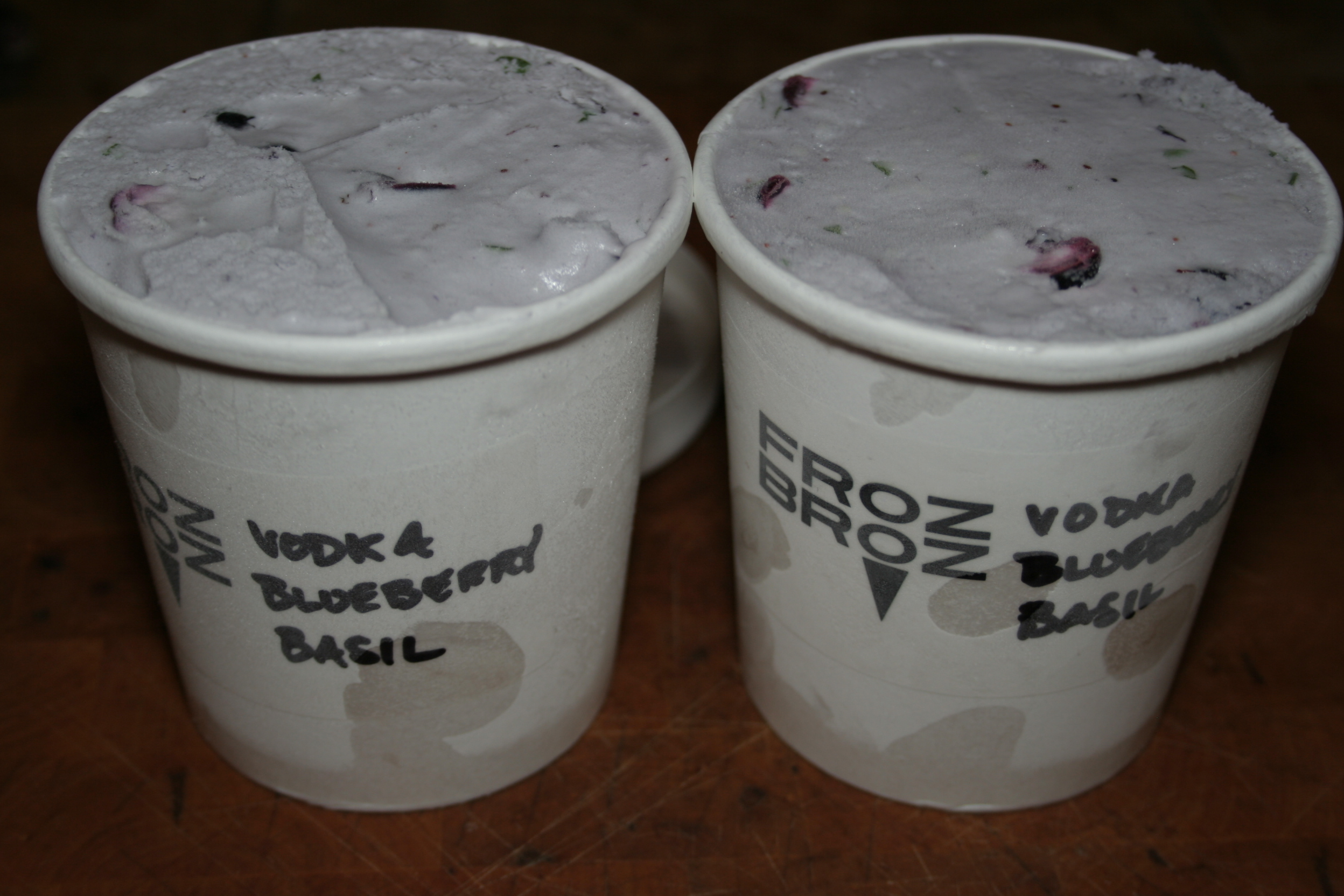 Vodka blueberry and basil frozbroz for Ice cream with alcohol