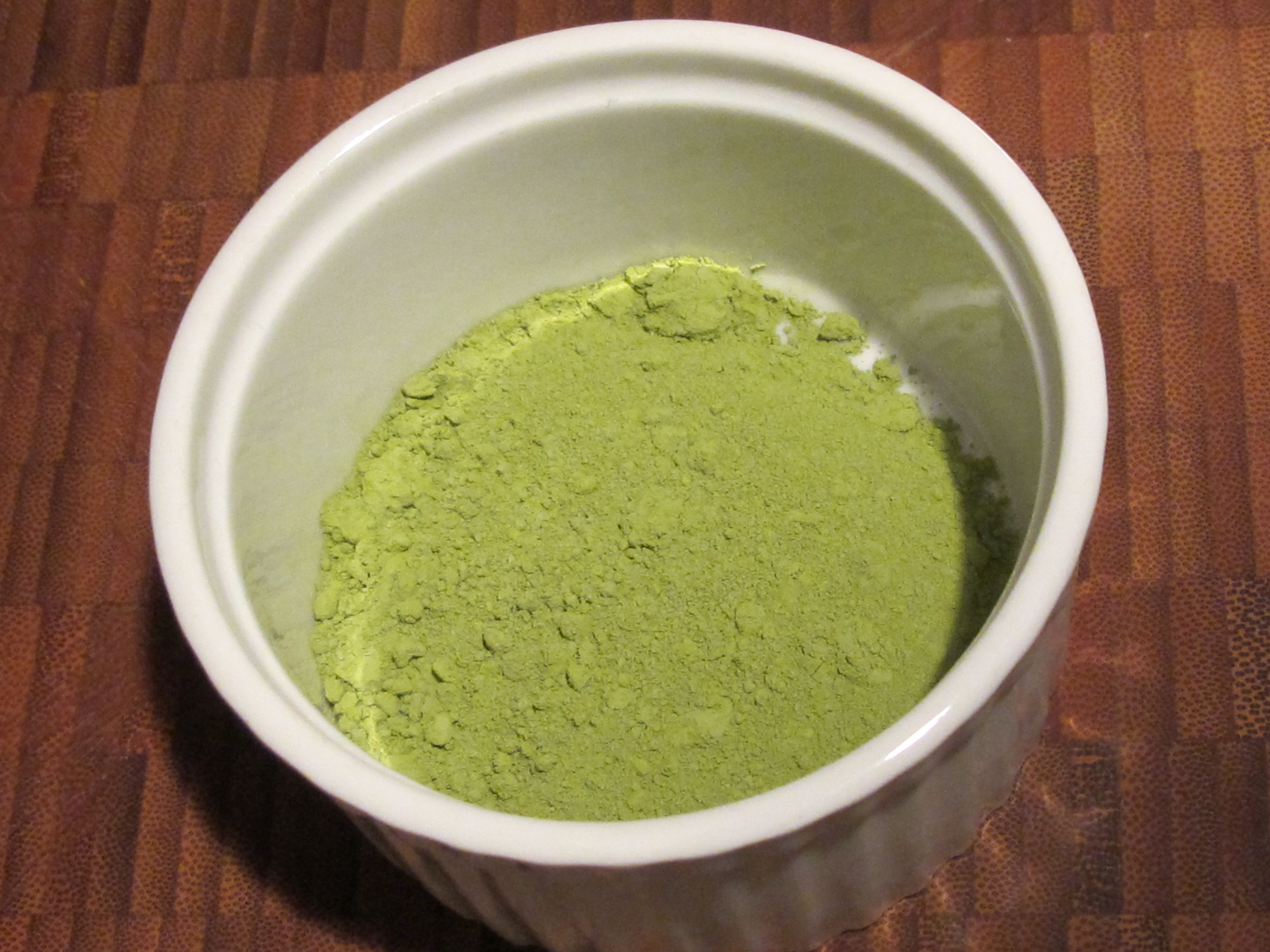 The leaves of Matcha are ground into a silky powder.