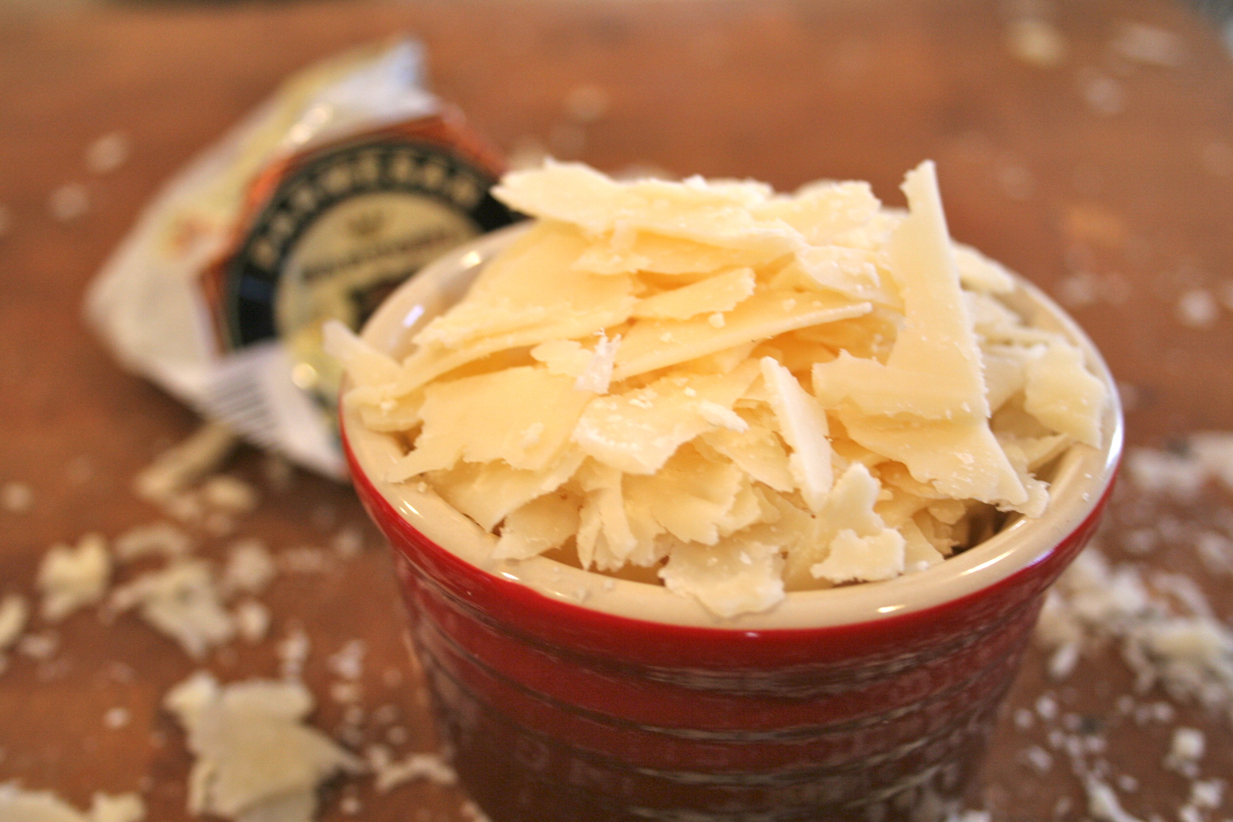 Shaved parmesan cheese