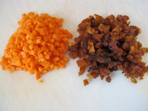 Diced Carrot and Apricots