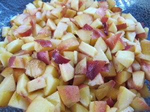 Diced Raw Peaches