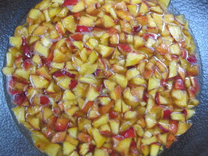Macerating Peaches