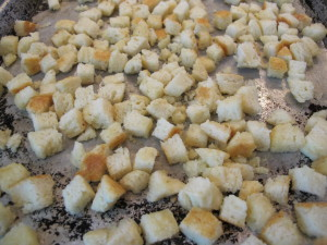Buttermilk Buscuit Croutons Before Baking