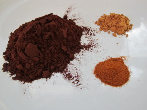 Cocoa Powder, Cinnamon, Cayenne Pepper