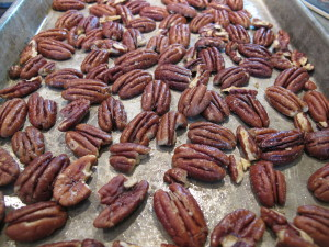 Pecans, toasted, salted